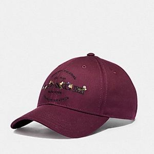 Coach Hudson Floral Embroiled Baseball Hat